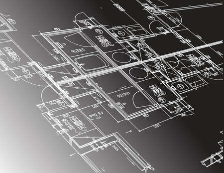 house construction: architecture plan guide illustration design graphic over a black background