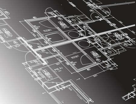 guide de plan de l'architecture graphique de conception d'illustration sur un fond noir