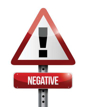 negative warning road sign illustration design over a white background Stock Vector - 23964543