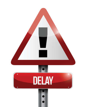 delay warning road sign illustration design over a white background Stock Vector - 23964594