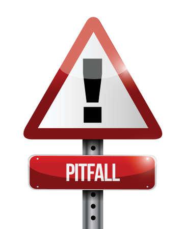 avertissement piège panneau routier conception d'illustration sur un fond blanc Illustration