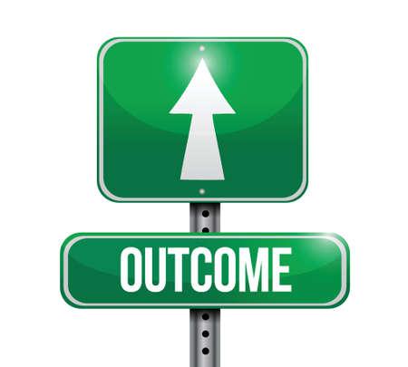 outcome road sign illustration design over a white background