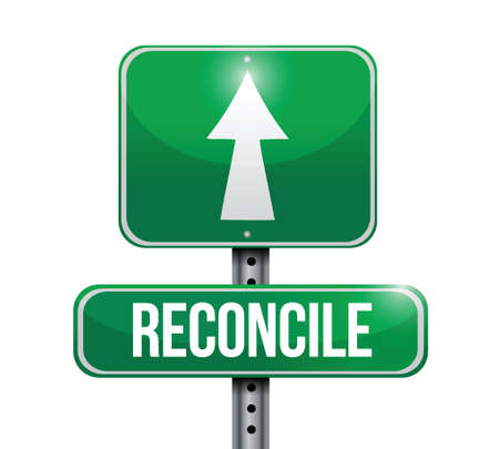 danger ahead: reconcile road sign illustration design over a white background