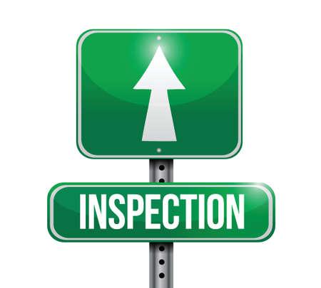 inspeccion: carretera inspecci�n signo ilustraci�n, dise�o sobre un fondo blanco