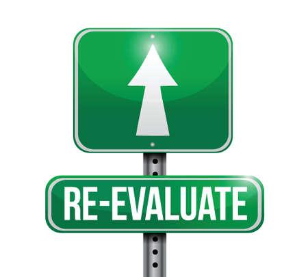 traffic violation: re-evaluate road sign illustration design over a white background Illustration