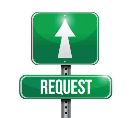 traffic violation: request road sign illustration design over a white background
