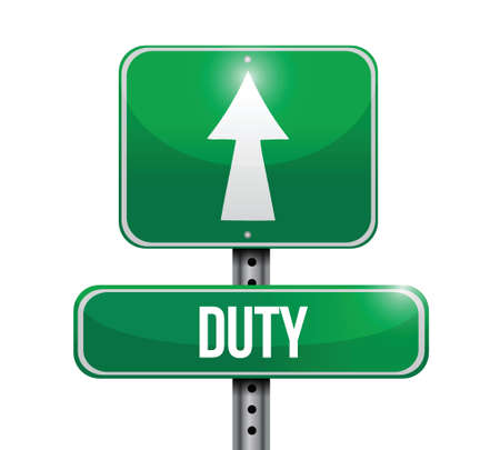 traffic violation: duty road sign illustration design over white