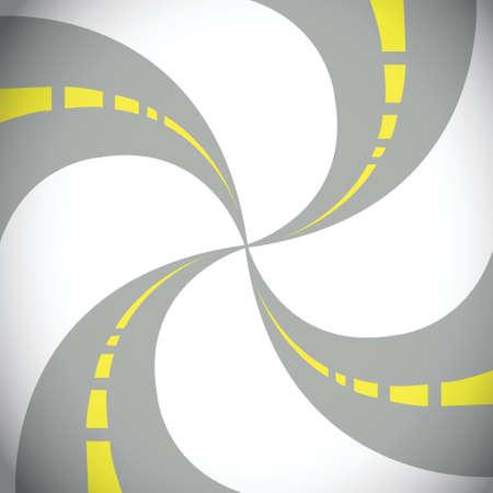 抽象的な道路イラスト デザイン ホワイト上リンクのセット