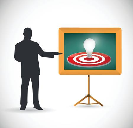 couching: idea target presentation illustration over a white background
