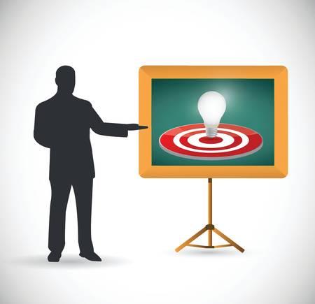 smart goals: idea target presentation illustration over a white background