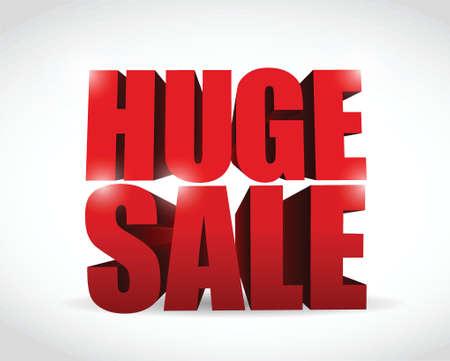 huge sale sign illustration design over a white background Stock Vector - 24181563
