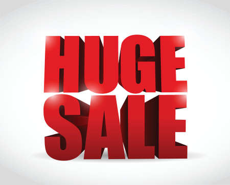 wry: huge sale sign illustration design over a white background