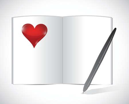 workbook: love agenda illustration design over a white background Illustration