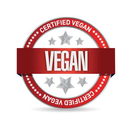 allergen: certified vegan seal illustration design over white