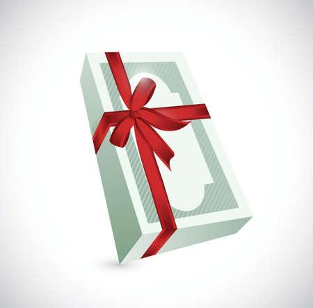 money gift ribbon illustration design over a white background Stock Vector - 24181574