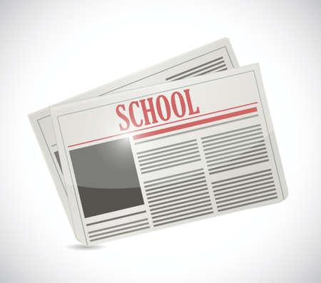school newspaper illustration design over a white background Stock Vector - 24181581