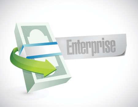 enterprise business cash sign illustration design over white