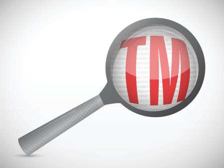 magnify trademark illustration design over a white background