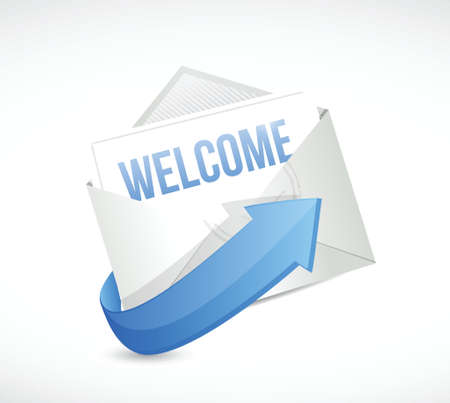 private information: welcome mail message illustration design over a white background