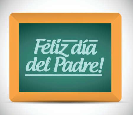 칠판에 스페인어 메시지 기호 그림 디자인 행복한 아버지 날