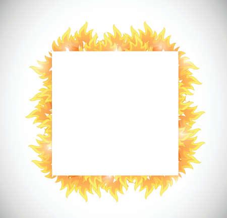 fire banner illustration design over a white background