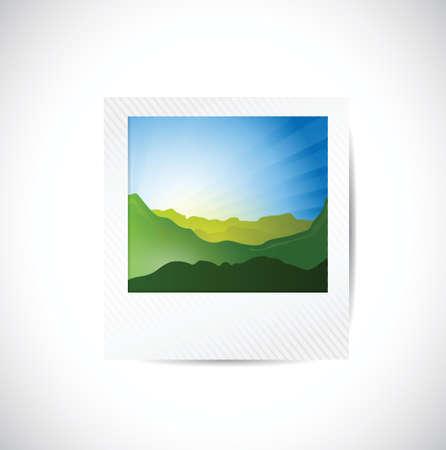 landscape picture illustration design over a white background