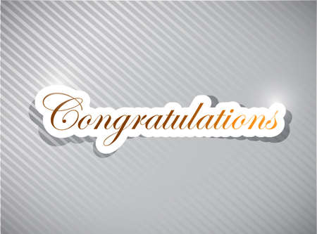 congratulations card illustration design over a white background Reklamní fotografie