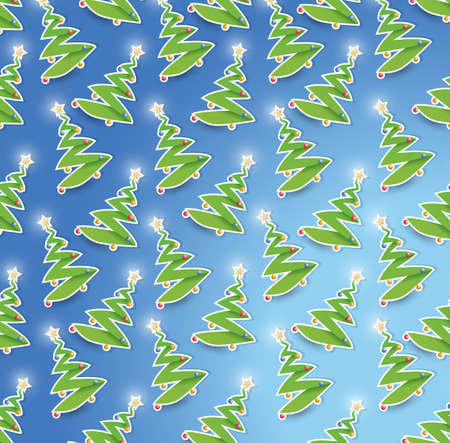 seamless christmas tree illustration design graphic background illustration