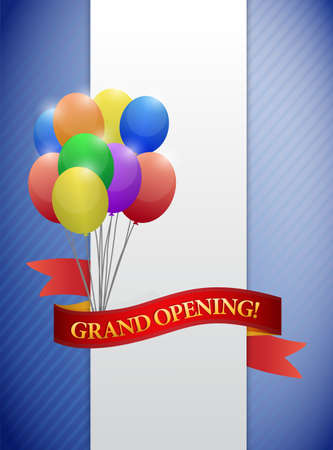 grand open: grand opening ribbon card illustration design graphic Stock Photo