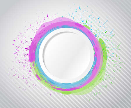 ink circle drops illustration design over a white background