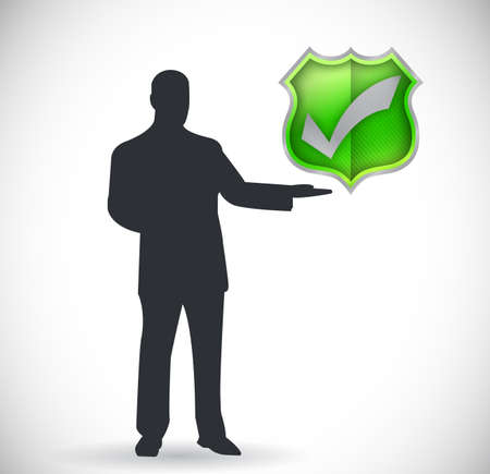 check mark and presentation symbol illustration design Stock Illustration - 24181636