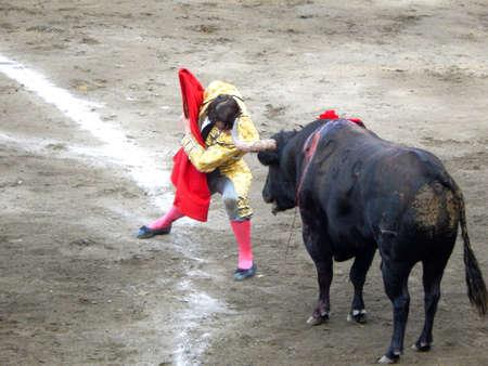 torero: LIMA, PERU - NOV 2013: famous Spanish torero Juan Jose Padilla. Brave bullfighter