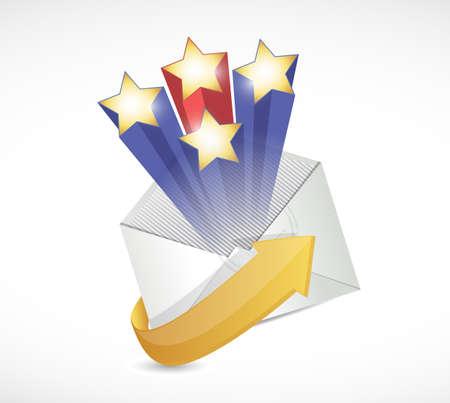 surprise mail illustration design over a white background