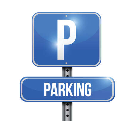 parking sign: parking road sign illustration design over a white background
