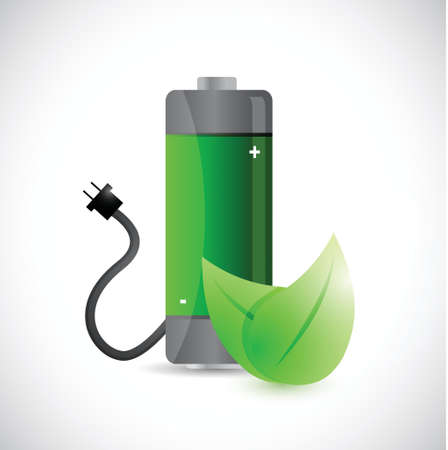 battery charger: renewal energy concept illustration design over a white