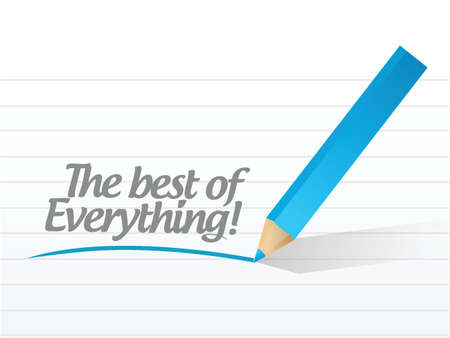 the best of everything message illustration design over a white background Stock Vector - 24378151