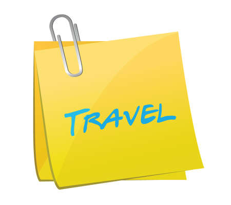 travel post illustration design over a white background