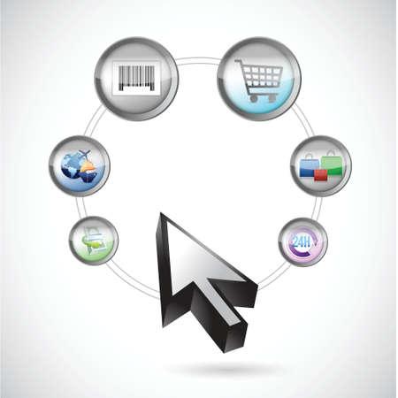 commerce: commerce process illustration design over a white background Illustration