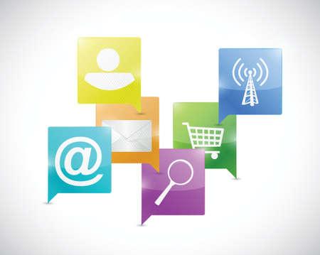 novelty: internet network communication concept illustration design over a white background
