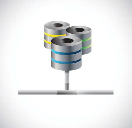 server connection illustration design over a white background Vector