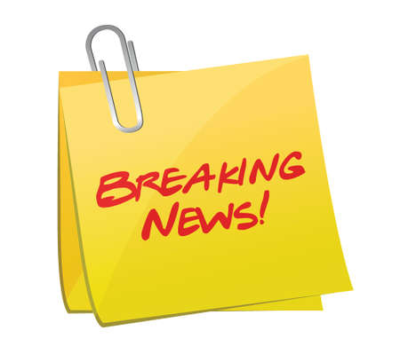 article marketing: breaking news post illustration design over a white background
