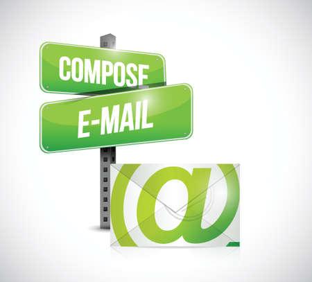 compose mail concept illustration design over a white background Illustration