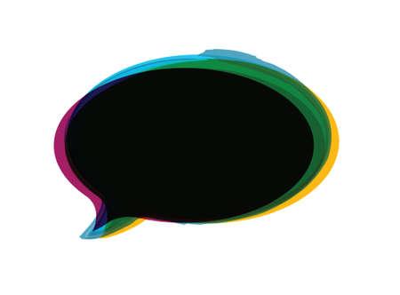 color border message bubble illustration design over a white background 向量圖像