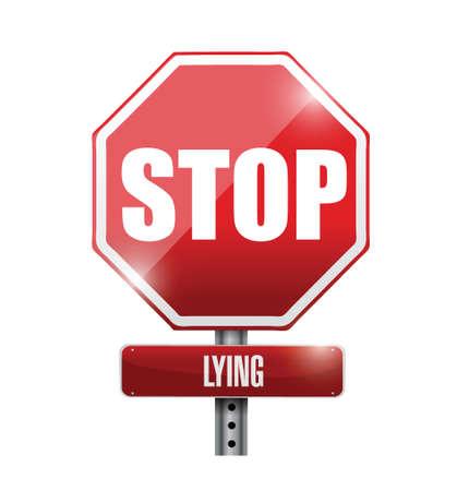 sinner: stop lying illustration design over a white background