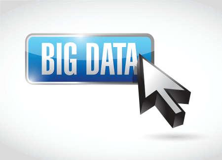 big data button cursor illustration design over a white background Vector