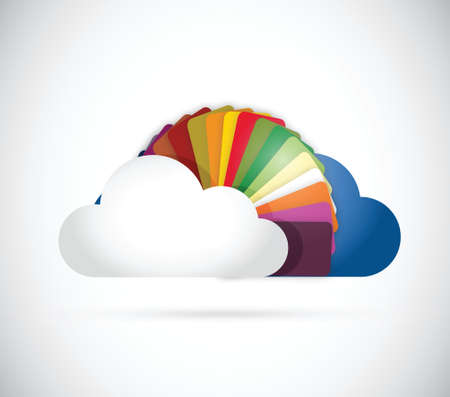 stock agency: nuvole e colori design illustrazione su uno sfondo bianco Vettoriali