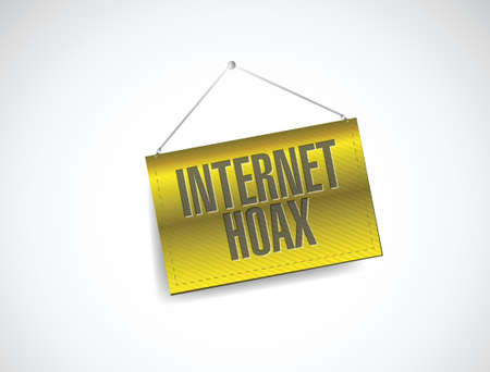 hoax: internet hoax sign illustration design over a white background