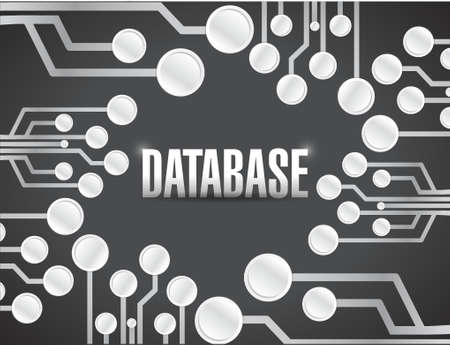 bank records: database circuit board illustration design over a black background