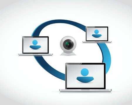 live chat network communication. illustration design over a white background
