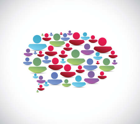people message bubble illustration design over a white background